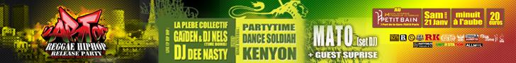Toutes les infos sur le Art of Reggae Hip Hop Release Party - 21 Janvier 2017