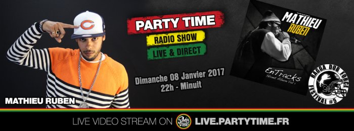 Mathieu Ruben at Party Time Reggae Radio show - 08 JAN 2017
