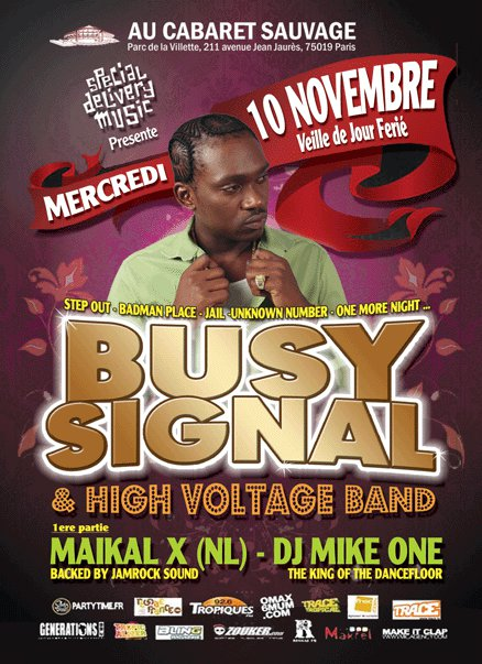 Busy Signal - Paris 2010