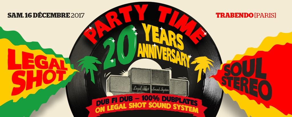 Cliquez ici pour commander vos places pour les 20 ans de Party Time